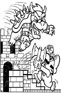 New Super Mario Bros Kids Coloring Pages Free Colouring Pictures to