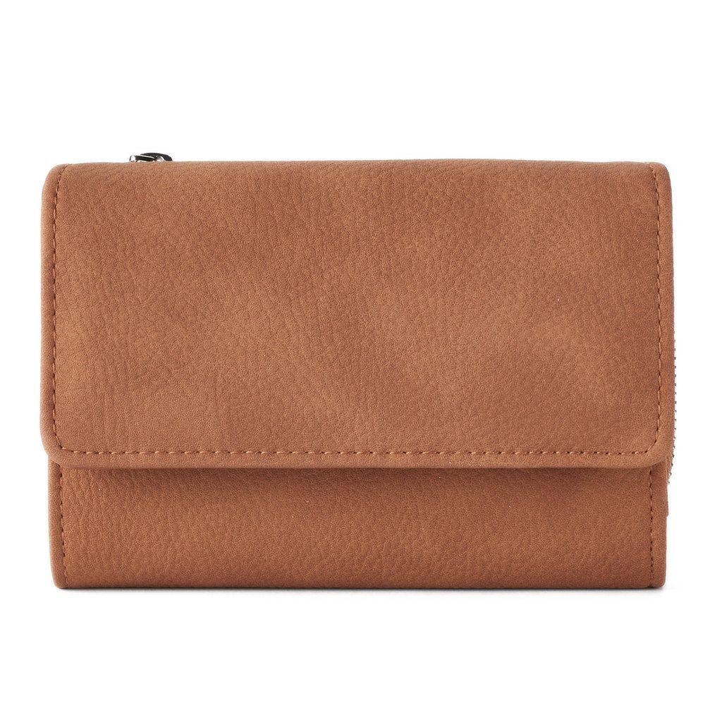 Apt. 9® Amsterdam Rfid-Blocking Indexer Wallet, Women s, Brown f657baf5956