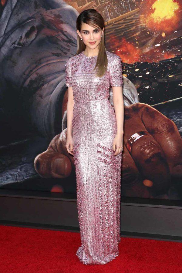 July 10, 2018) Hannah Quinlivan wears a Prada gown at the Skyscraper ...