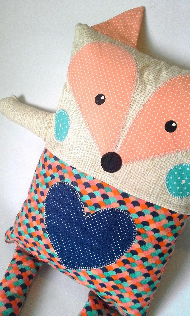 325170f37abec6 Naninha raposa linda feita em tecido de algodão. Ótima para ...