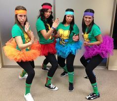 4 Ninja Turtles | Kostüm-Idee für Gruppen zu Karneval, Halloween & Fasching