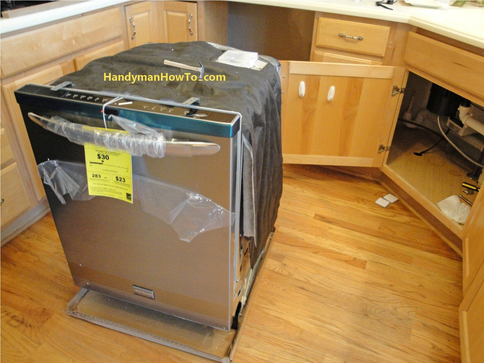 How To Replace A Dishwasher Part 3 Diy Kitchen Remodel