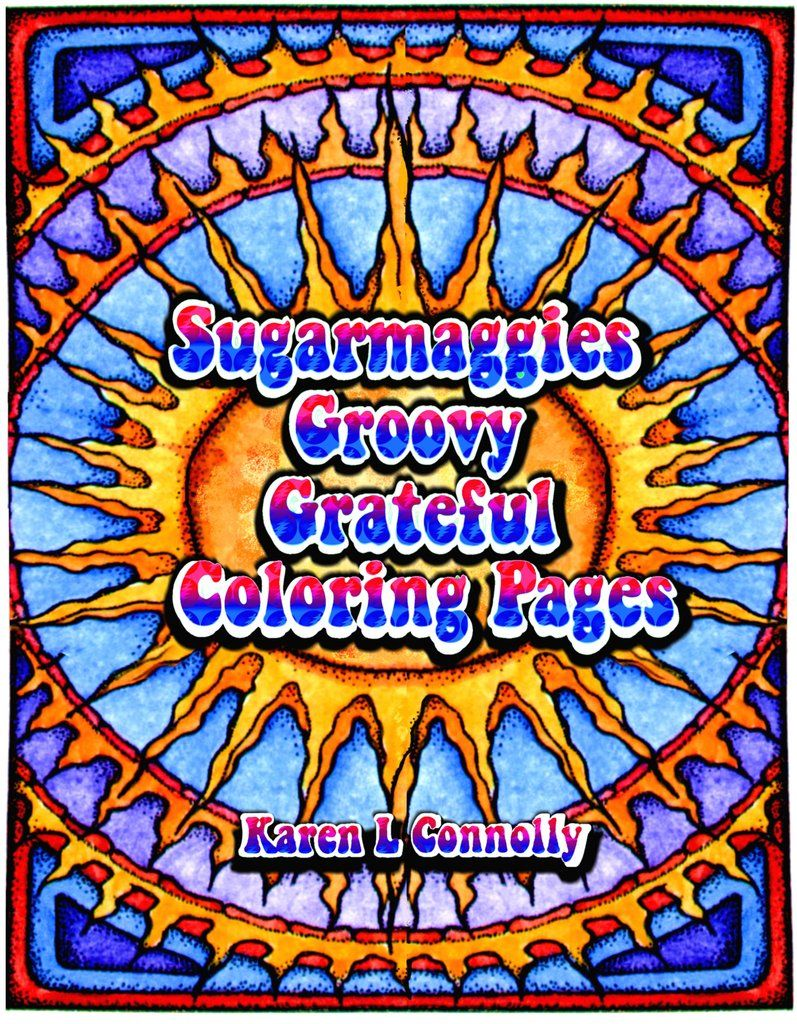 a groovy fun adult coloring book featuring illustrations from sugarmaggies facebook page you get 25