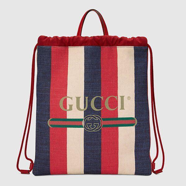 1a1a6ba9c080f Sommertaschen 2018  Gucci Backpack aus Canvas mit Streifen (Hey Pretty  Fashion Flash)