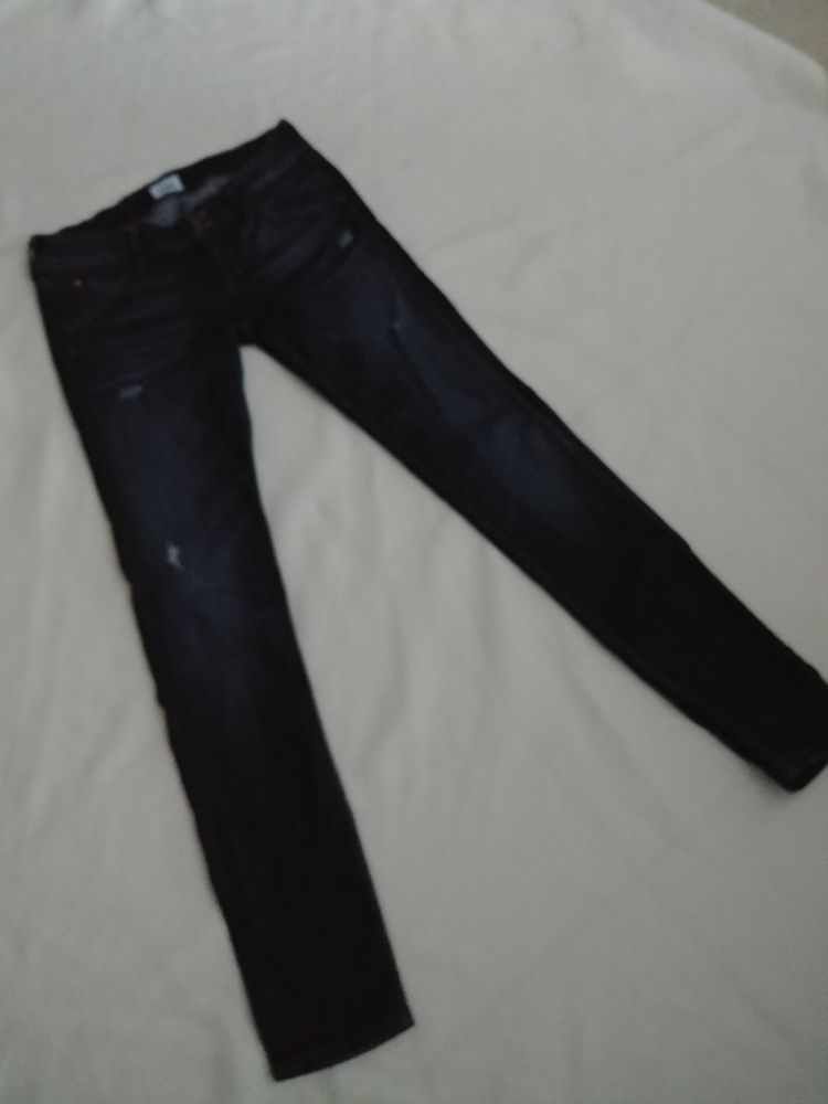 Hudson Collin Skinny Dark Wash Distressed Jeans Size 26