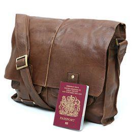The Men's Leather Messenger Bag | Popular, Modern man and Men's ...
