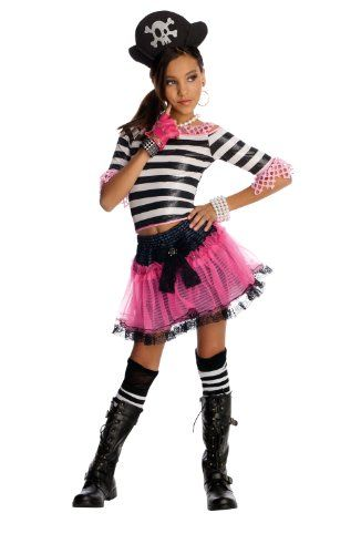 Amazon.com Rubieu0027s Drama Queens Child Pirate Treasure Costume - Large (Ages 8 to 10) Toys u0026 Games  sc 1 st  Pinterest & Rubieu0027s Drama Queens Child Pirate Treasure Costume - Large (10-12 ...