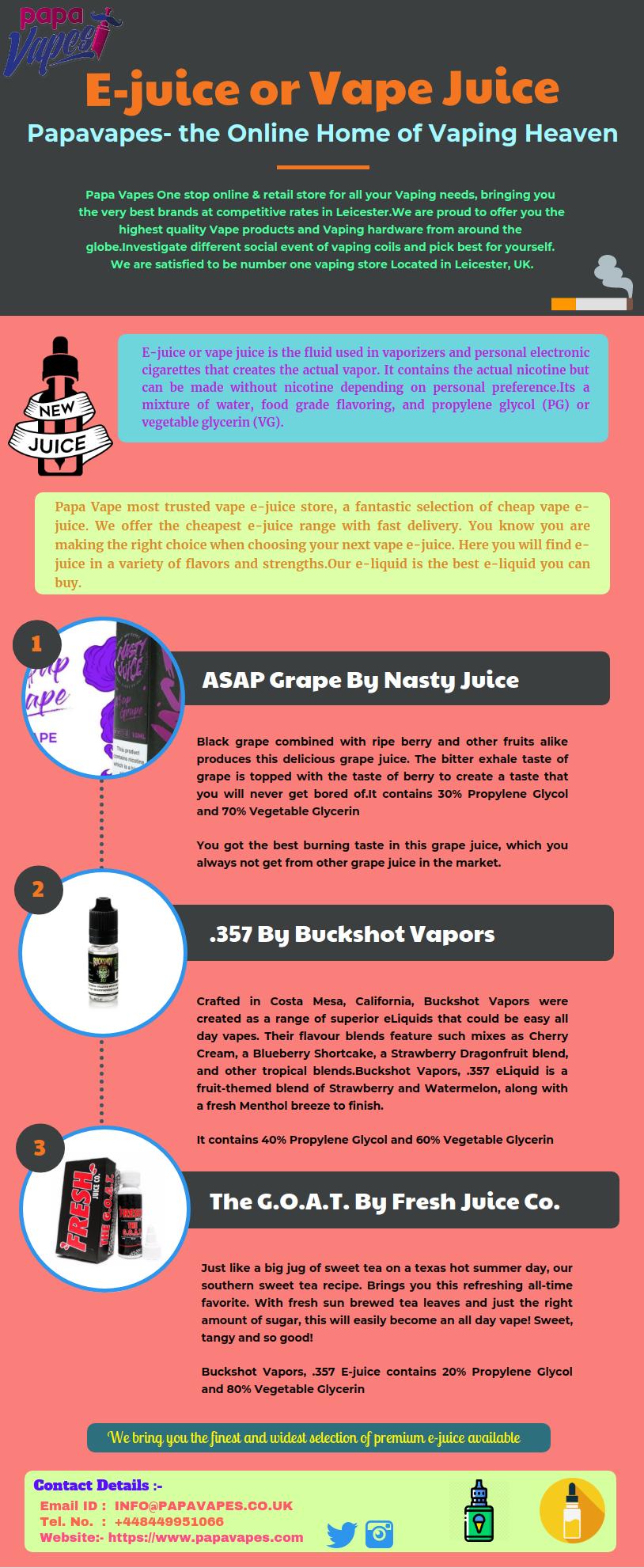 Papa Vape, the most trusted e-juice store, a fantastic