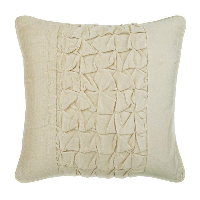 Ivory Velvet Throw Pillow Cover