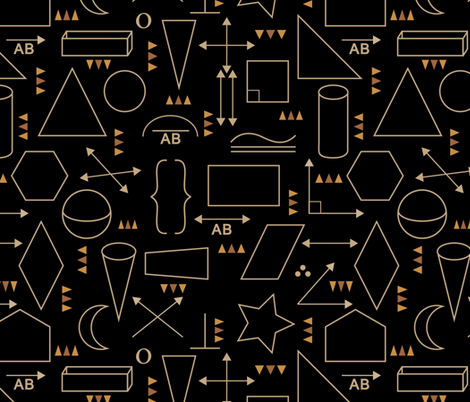 Life without geometry is pointless fabric by vo_aka_virginiao on Spoonflower - custom fabric