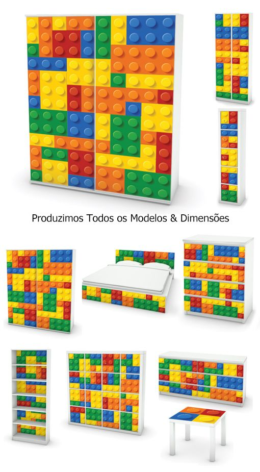 Ikovers lego decora o em vinil autocolante decorativo for Papel de pared decorativo