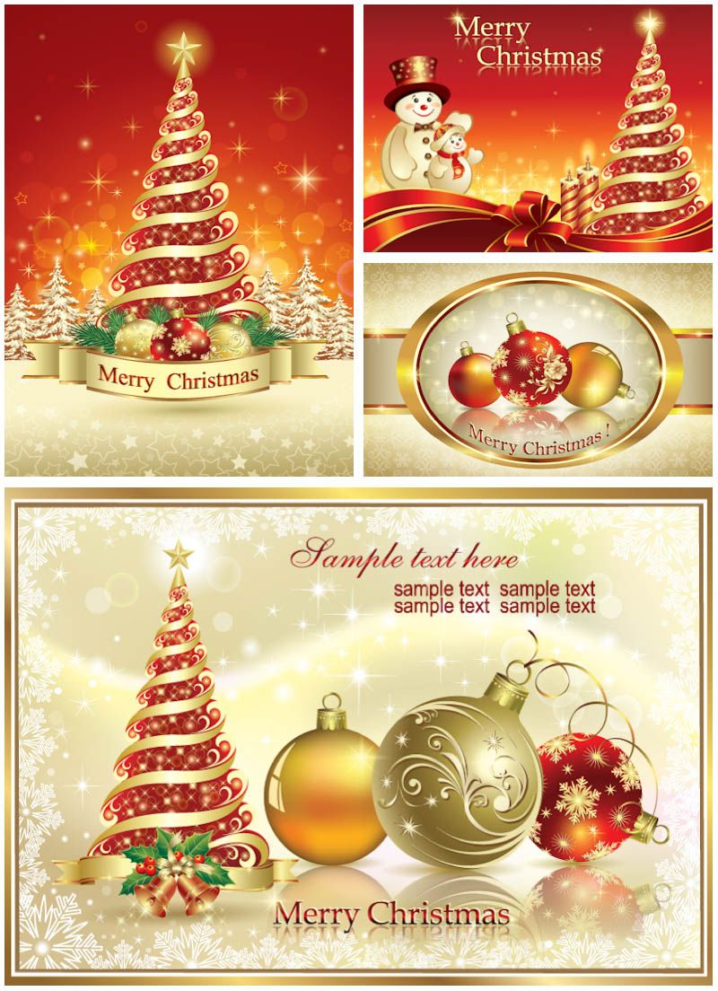 Classic Holiday Christmas Cards Vector Flowers4jane Pinterest