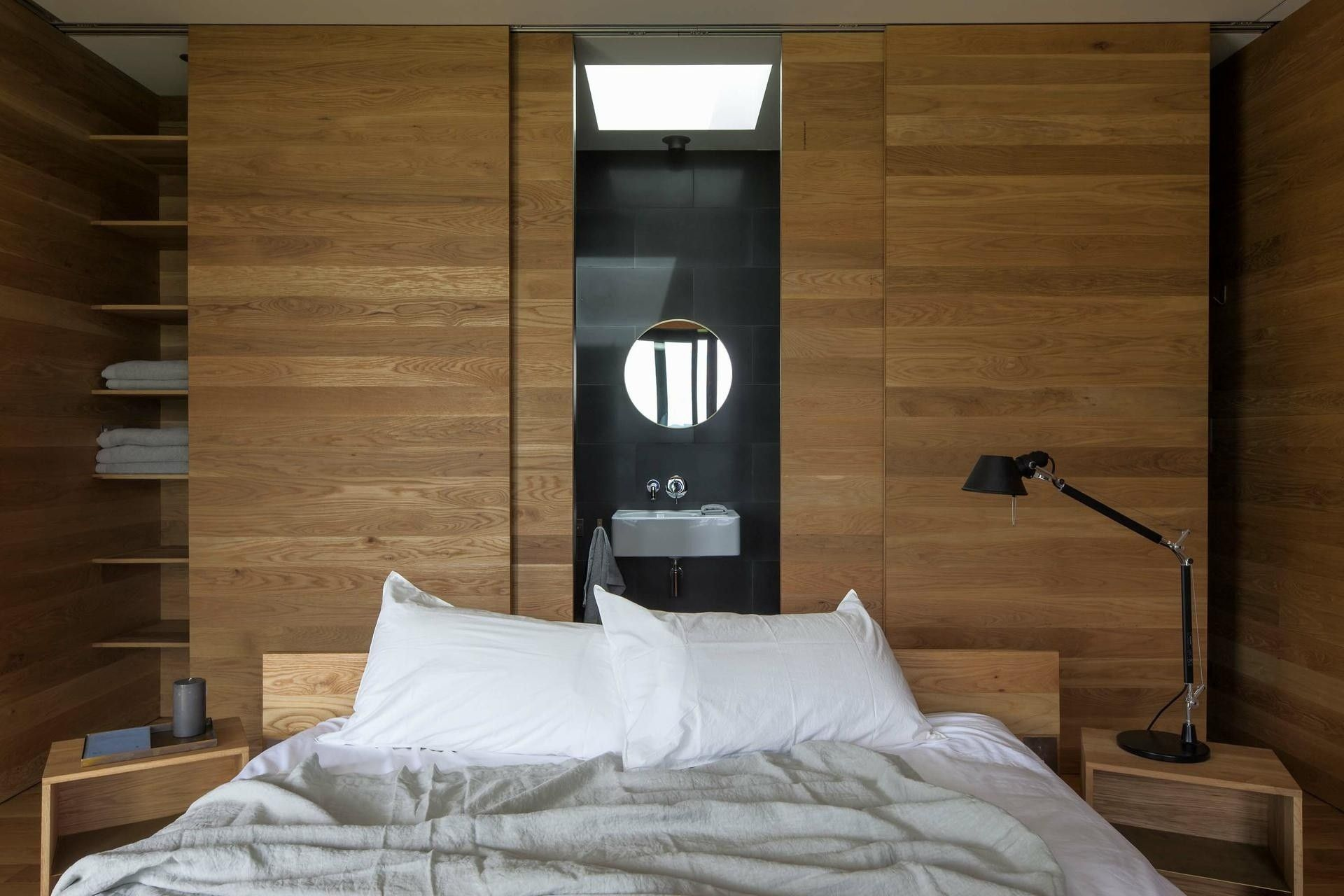 Home interior wall design storm cottage by fearon hay architects  pasillo  pinterest