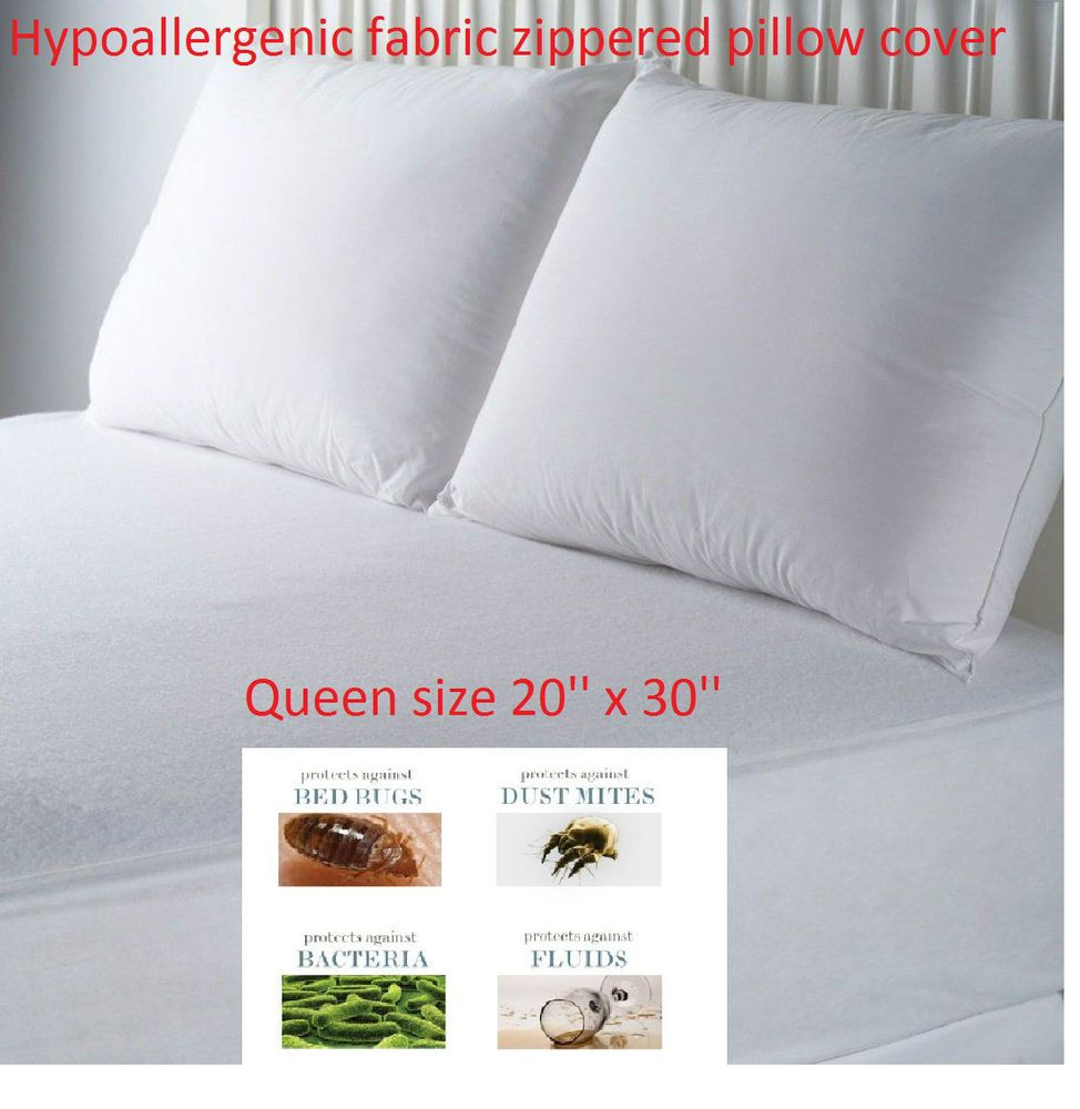 Bed Bug Pillow Cover New Hypoallergenic Pillow Covers Waterproof Zipper Fabric Allergy Bed Design Ideas