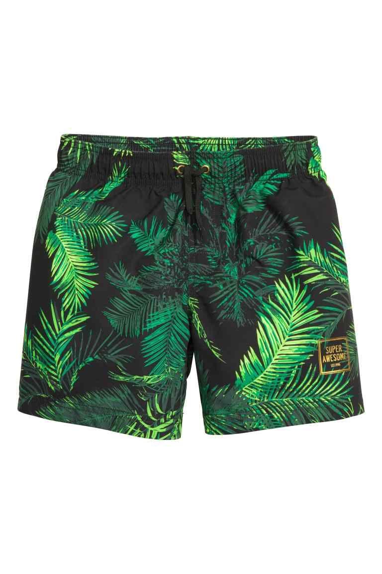 bfaa466ec8f68 Patterned swim shorts: Patterned swim shorts with an elasticated drawstring…