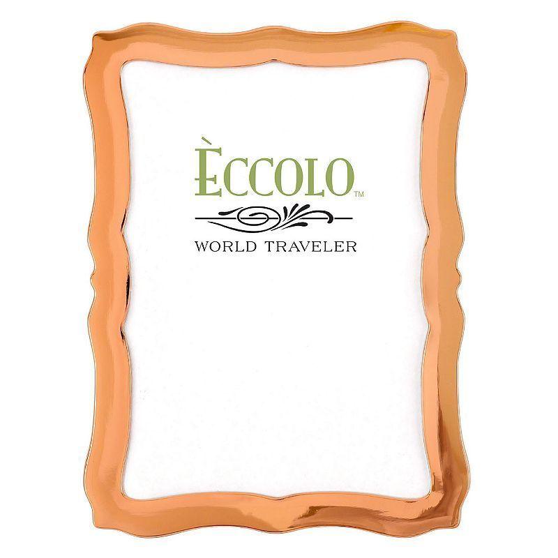 World Traveler Scalloped Copper Frame, Red/Coppr (Rust/Coppr)
