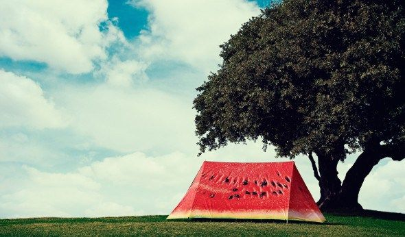 What a Melon 2-Person Tent - What life is like inside a watermelon.