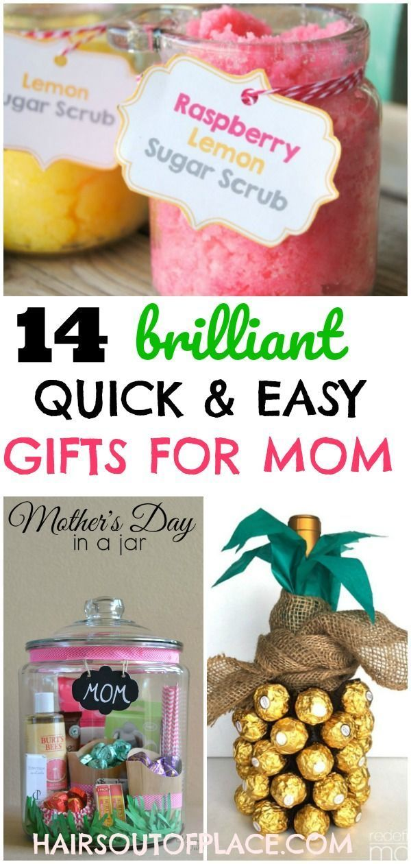 12 Easy DIY Gifts For Mom When Youre Out Of Time And Money These Are Brilliant Gift Ideas Her She Already Has Everything Whether You Ne