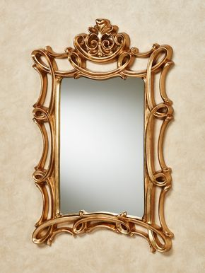 Scroll Elegance Gold Rectangular Wall Mirror is part of Ikea Living Room Mirror -