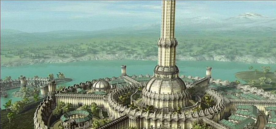 Imperial City Wallpaper Oblivion Wallpaper Redo By Fantasy City City Wallpaper Elven City
