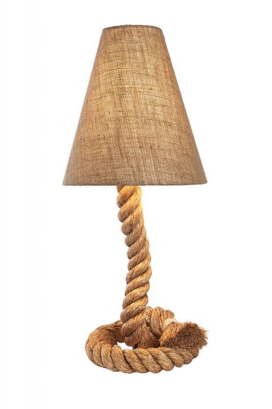 Stehlampe Mit Tau Klein Maritimes