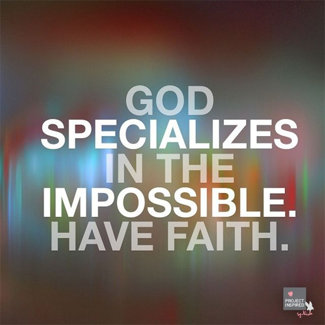 Inspirational Thought of the Day Having Faith in God
