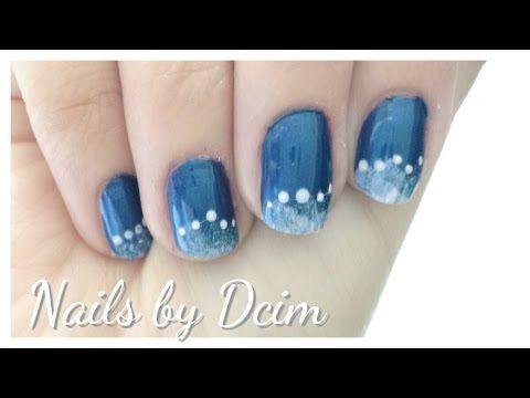 Uñas diseño nieve / Snow Nail Design