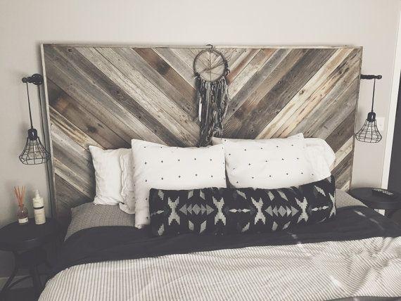 Oversized Reclaimed Wood Headboard Reclaimed Wood Headboard