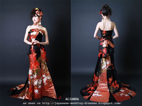 Japanese Wedding Dresses Beyond the Kimono: Aliansa\'s Modern Kimono ...