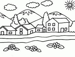 Resultado De Imagen Para Dibujos De Paisajes Sencillos Para Colorear Paisaje Para Colorear Dibujos Para Pintar Paisajes Paisajes Dibujos