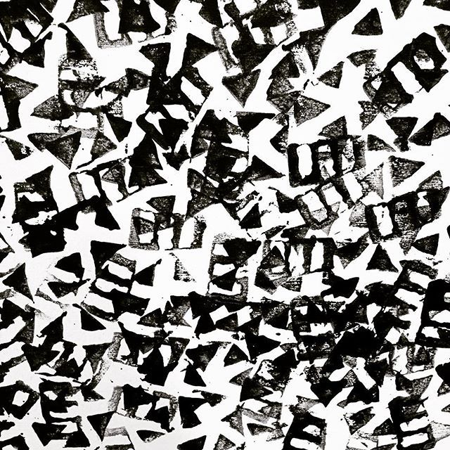 blockprinting #textiles #fabric #art #print #graphic #blackwhite #studiolife