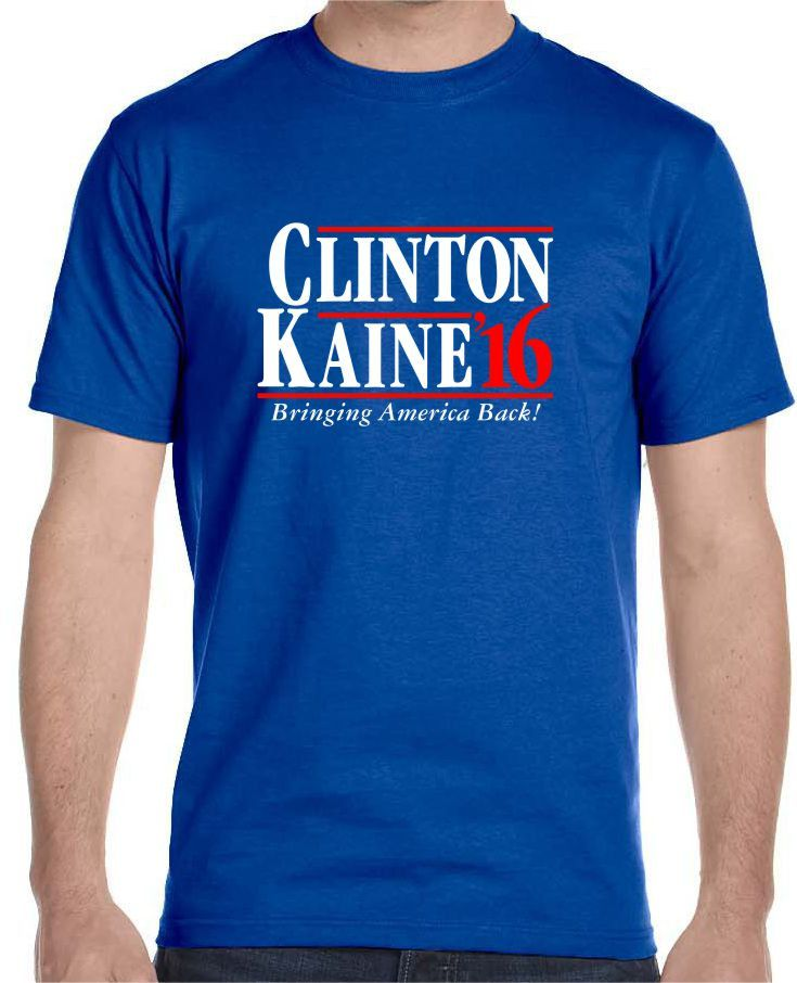 Now available on our store Clinton Kaine 201... Check it out here!http://www.tshirtmegastore.com/products/clinton-kaine-2016-t-shirt-president-vice-president-political-election-democrat