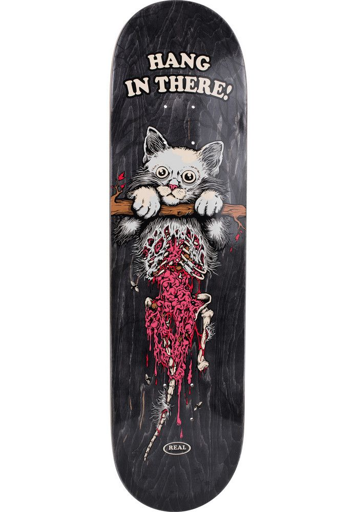 Real Hanging-Kitty, Deck, grey Titus Titus Skateshop #Deck #Skateboard #titus #titusskateshop