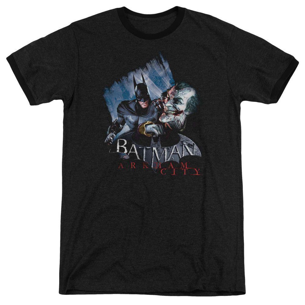 Arkham City Joke's On You! Black Ringer T-Shirt