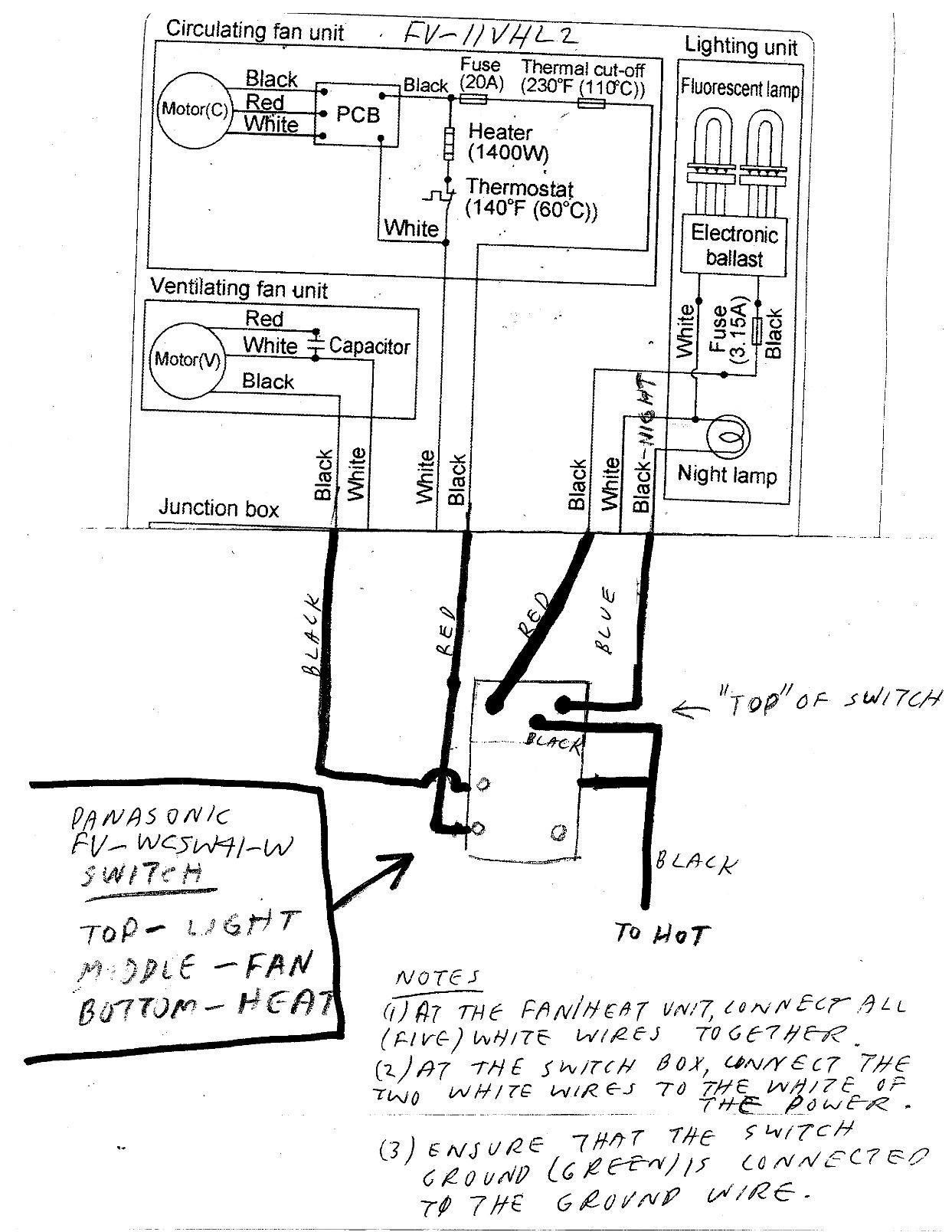 Panasonic Fan Switch Wiring Diagram