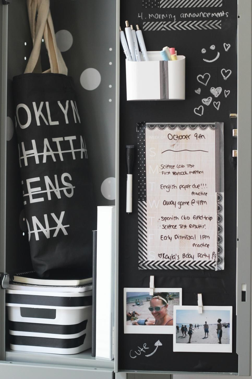 22 diy locker decorating ideas easy crafts and homemade decorating gift ideas hgtv