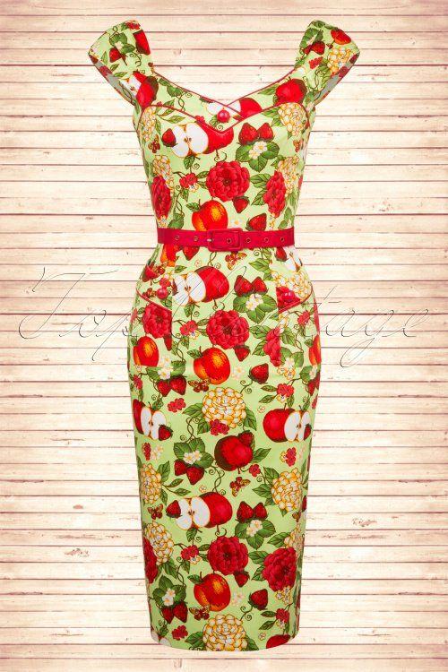Vixen Apple Floral Pencil Dress 100 49 15270 20150210 0006W