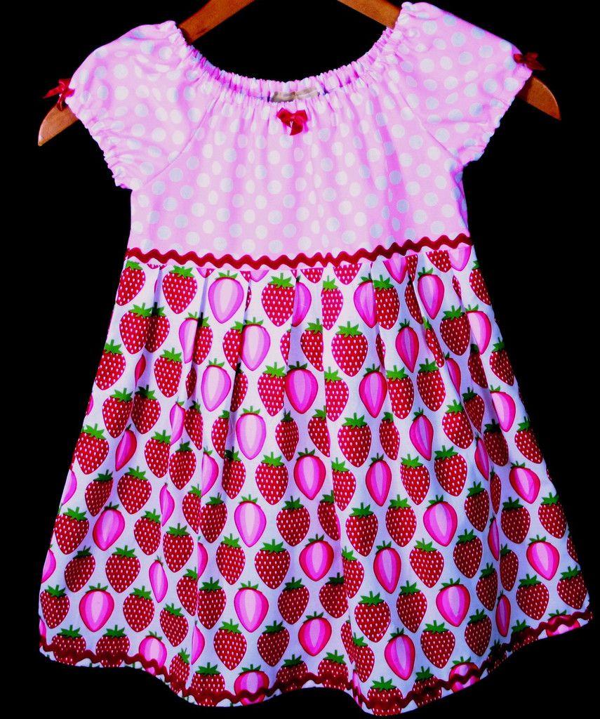 240399edb Picnic Strawberry Toddler Dress! Too cute. #children #clothing #fashion  #handmade
