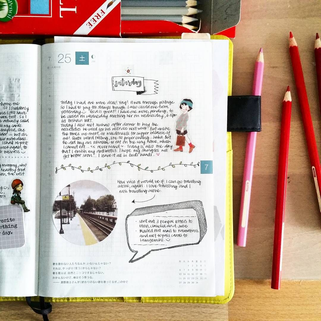 More of the pages from my #beloved hobonichi!