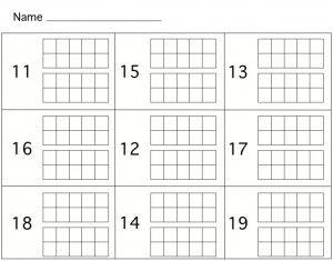 11 19 Ten Frame Teaching Place Value With Images Kindergarten Math Activities Numbers Kindergarten Kindergarten Math