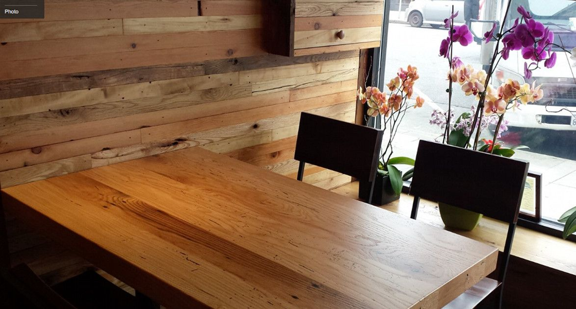Attrayant Wako Japanese Restaurant In San Francisco Have Our Reclaimed Wood On The  Walls, Table Tops