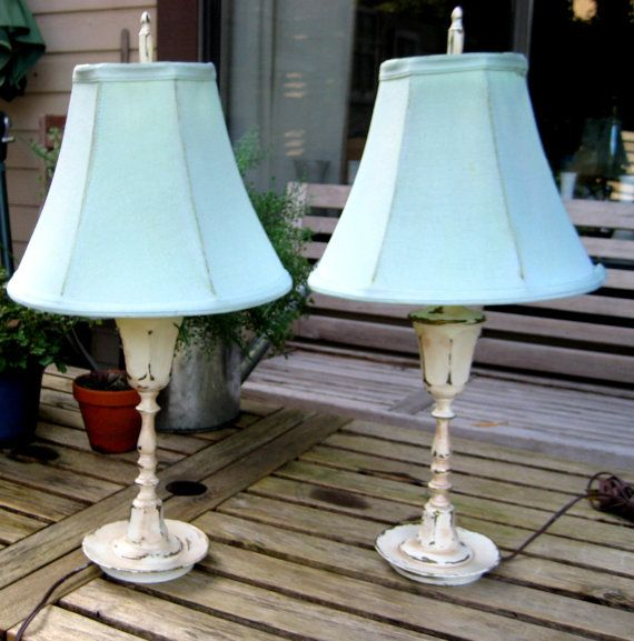 Up scaled ornate vintage lamps for your living by jensdreamvintage, $55.50 #cottage chic #french cottage #vintage lighting