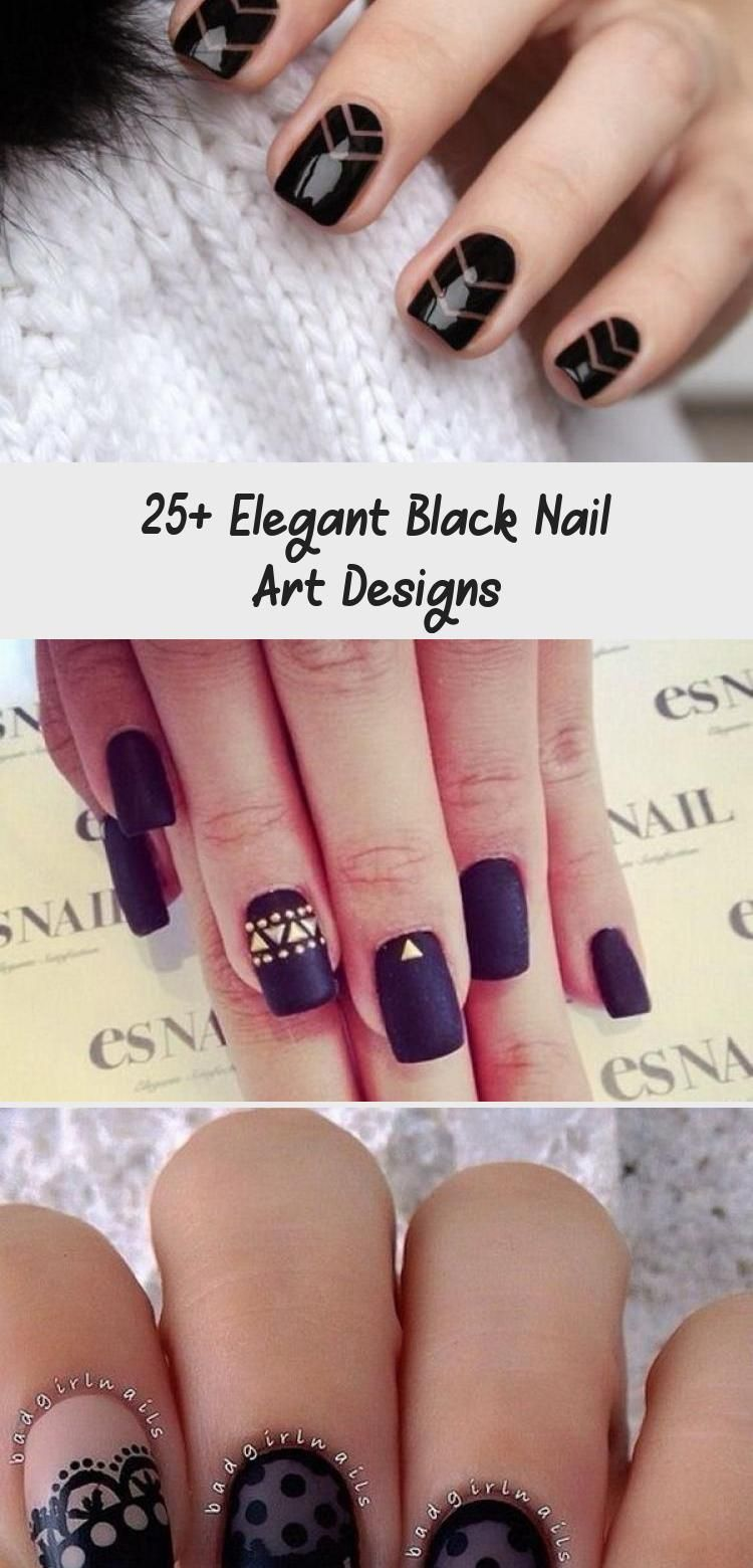 Photo of 25+ Elegant Black Nail Art Designs – Nail Art