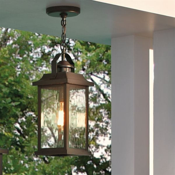 Kichler lighting linford 1 light olde bronze outdoor pendant light