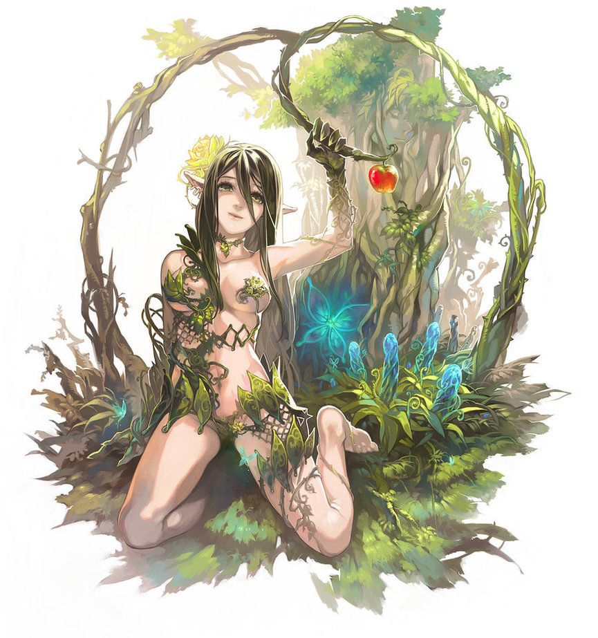 dryad by aoinhatsu a dryad is a tree nymph or female tree spirit