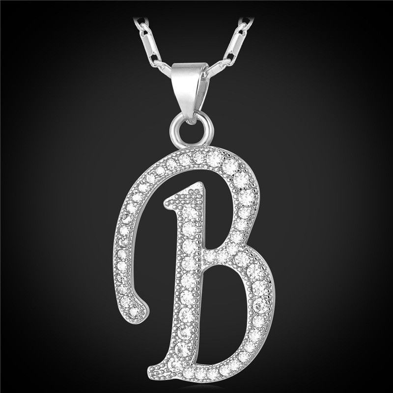 Customized alphabet b letter pendant charm 18k gold plated for customized alphabet b letter pendant charm 18k gold plated for women zircon necklace mozeypictures Choice Image