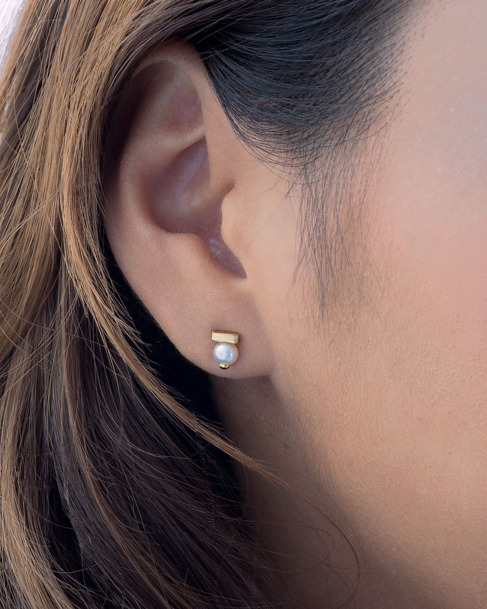 Anniversary Gifts Women/'s Earrings Minimalist Pearls Earrings Gold Pearl Stud Natural Pearl Earrings Dainty Freshwater Pearls Earrings