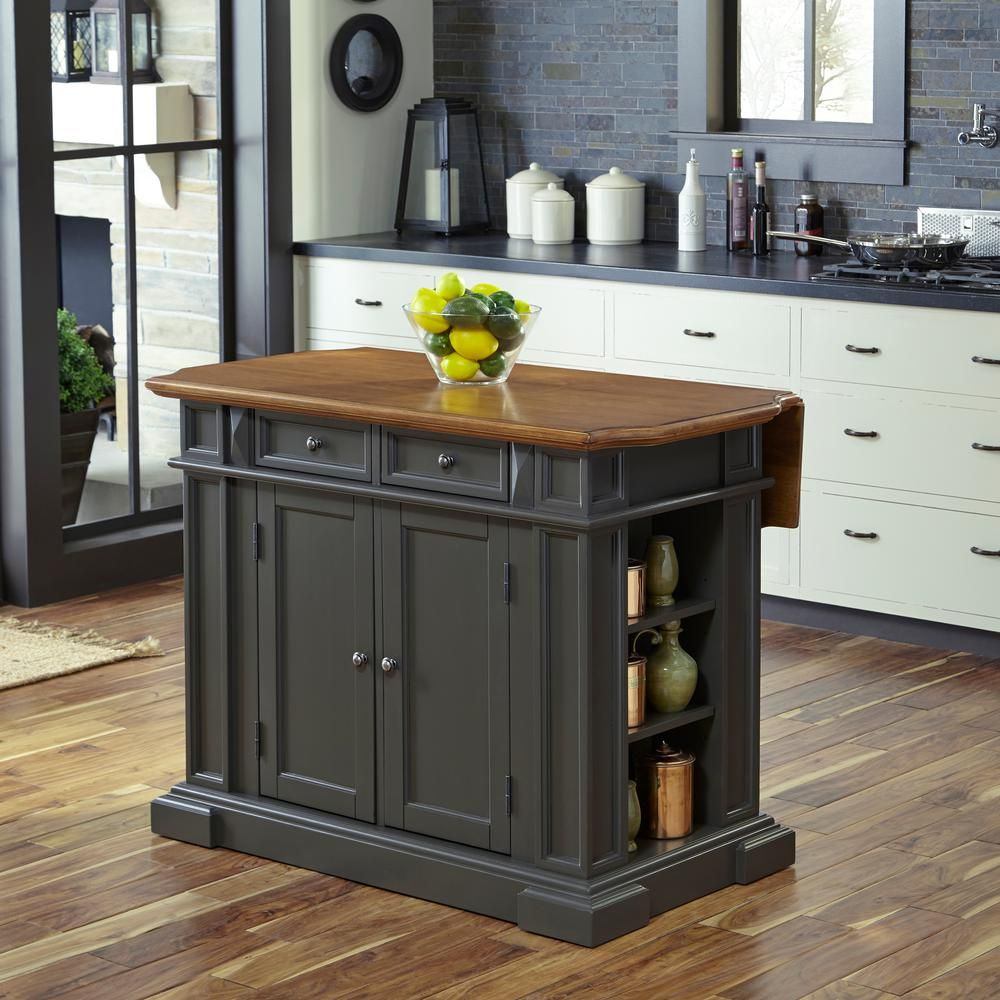 Home Styles Americana Grey Kitchen Island With Drop Leaf In 2019