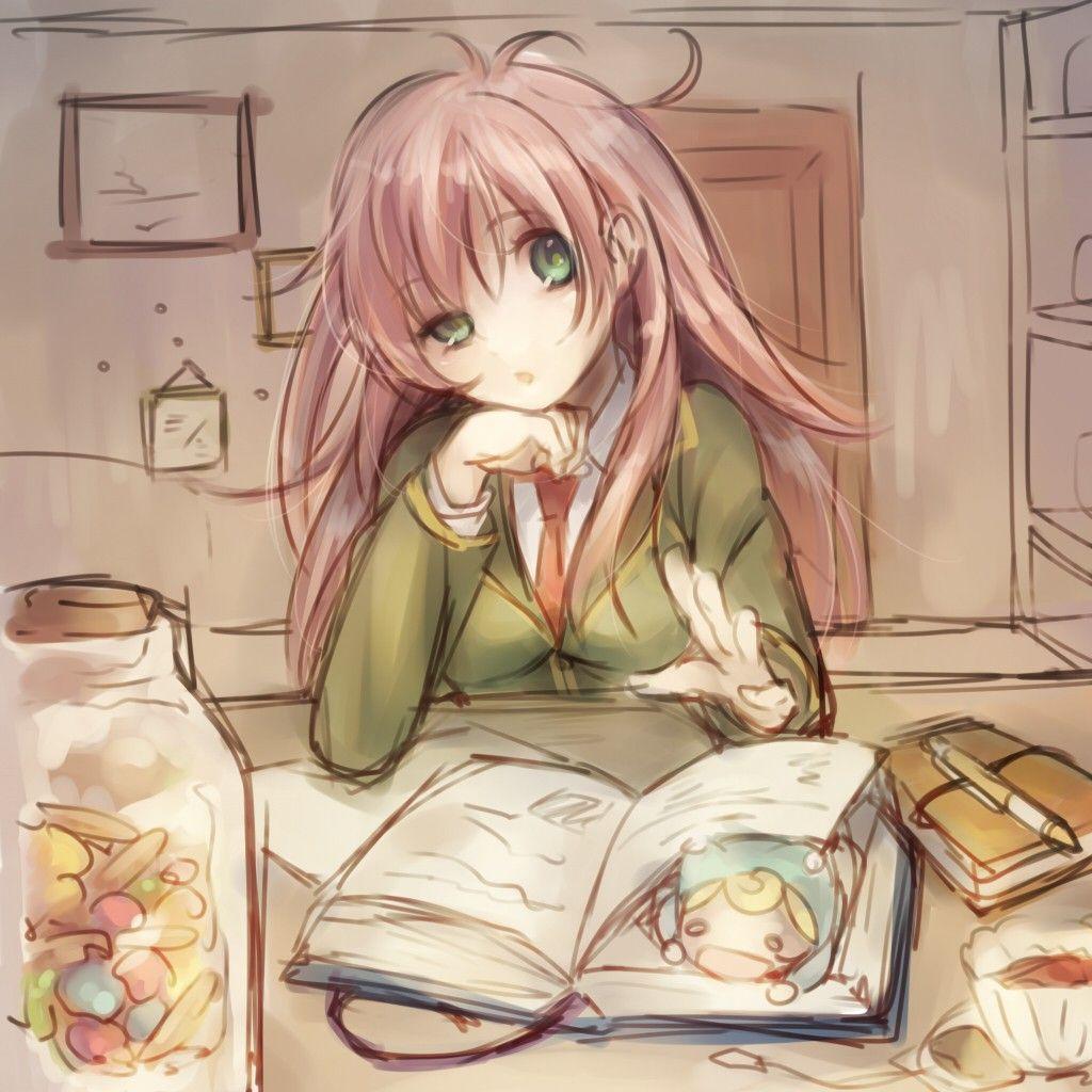 Anime 1024x1024 Jinrui Wa Suitai Shimashita Anime Girls Watashi