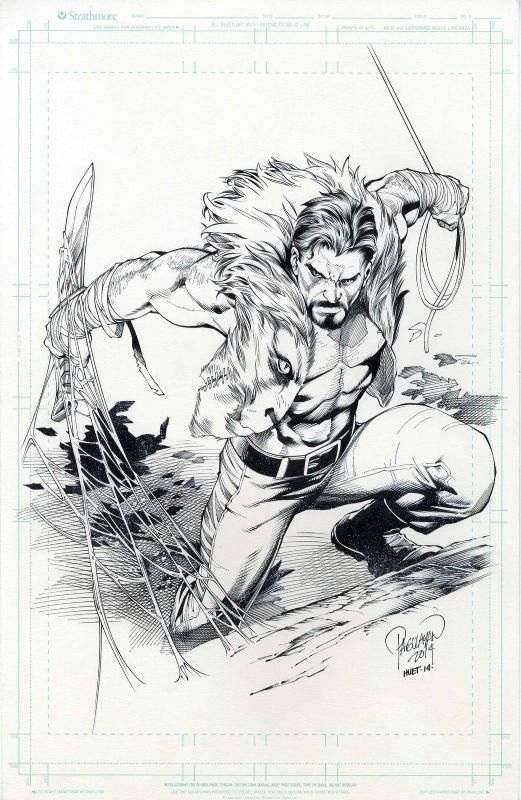 Kraven the Hunter by Carlo Pagulayan, inked by Jeff Huett.